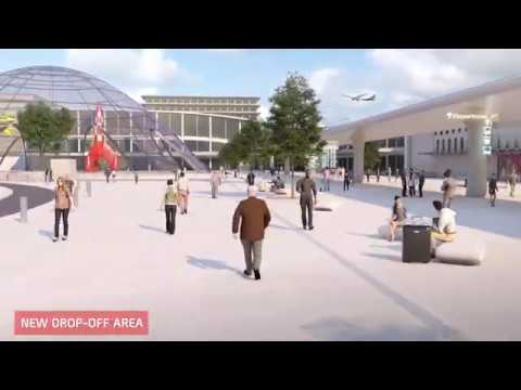Brussels Airport in 2040 with a bird's-eye view