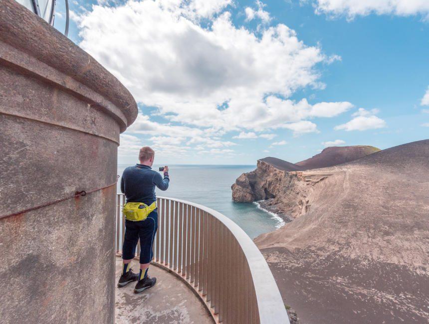 Faial Rundreise Azoren Leuchtturm Capelinhos