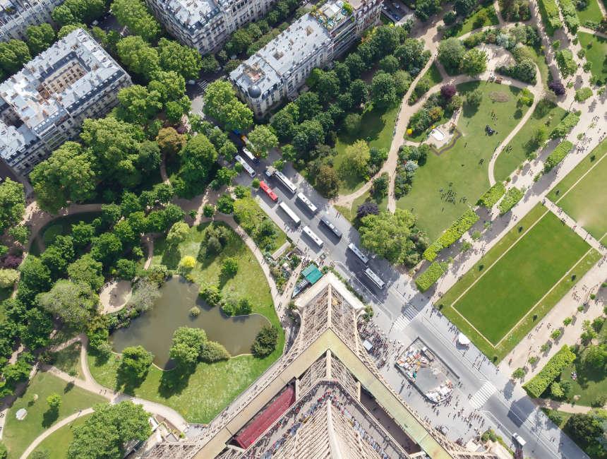 Aussicht Eiffelturm Karten