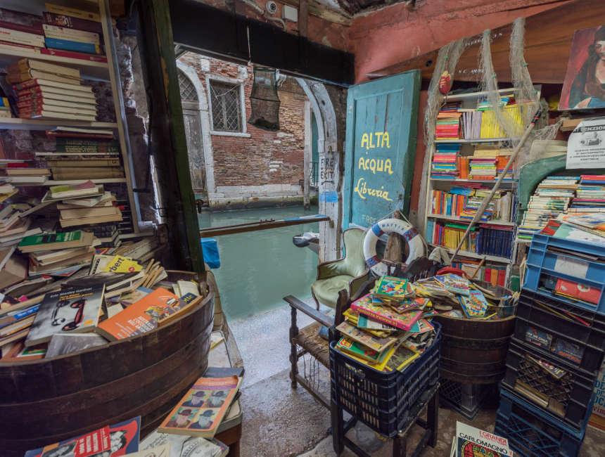 Sehenswürdigkeiten Venedig Libreria Acqua Alta