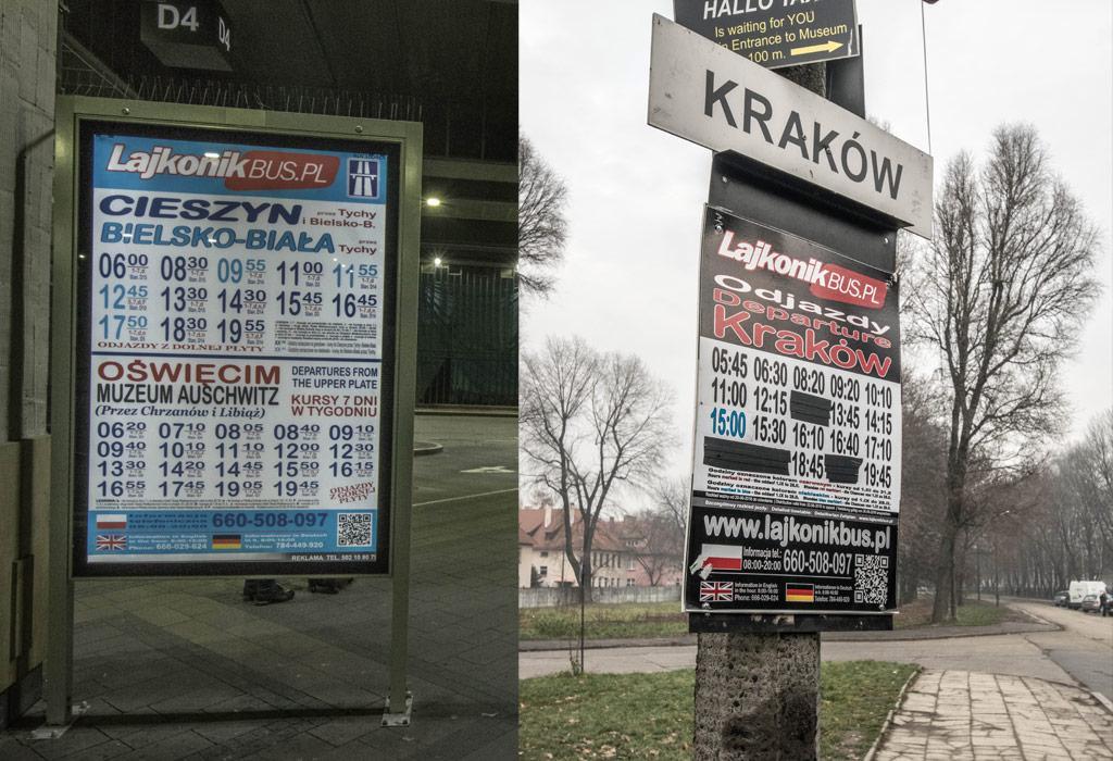 Lajkonik bus Krakau Auschwitz