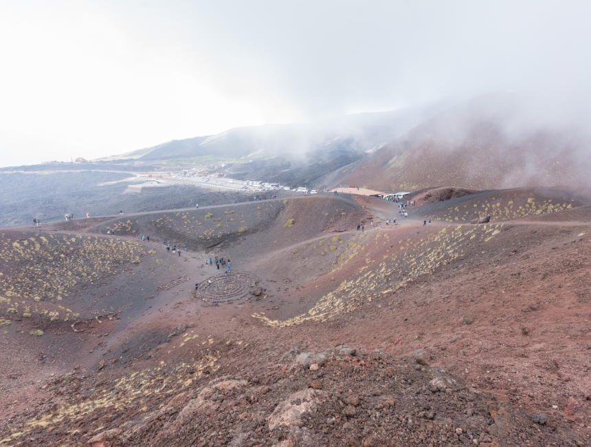 Ätna besuchen Krater