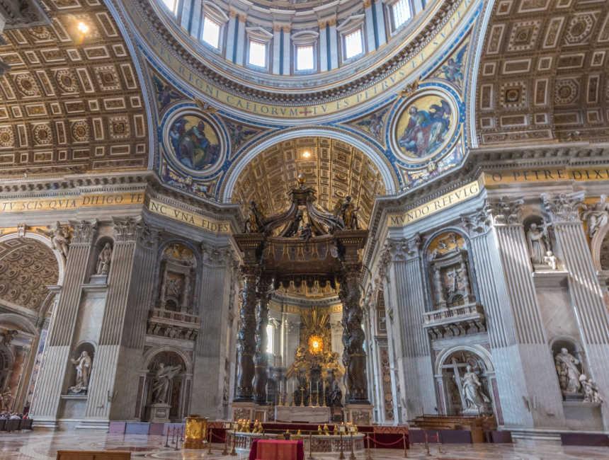 Baldachin Bernini Petersdom