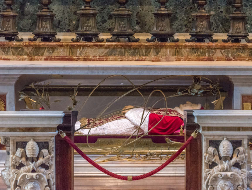 Papst Johannes XXIII Körper Petersdom