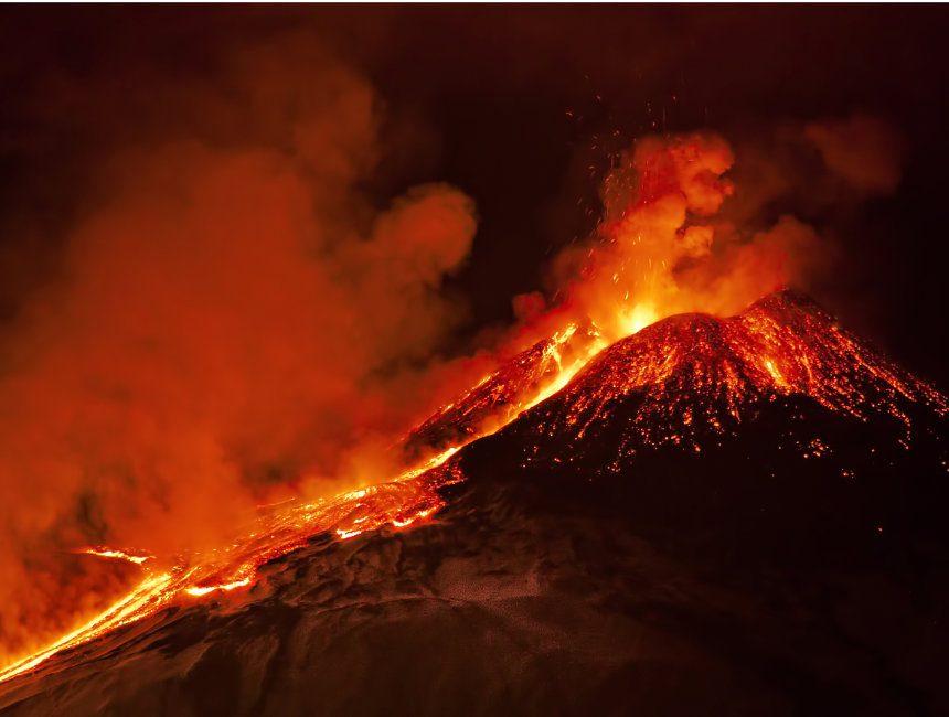 Vulkanausbruch Aetna