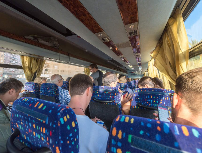 Aetna besichtigung bus catania