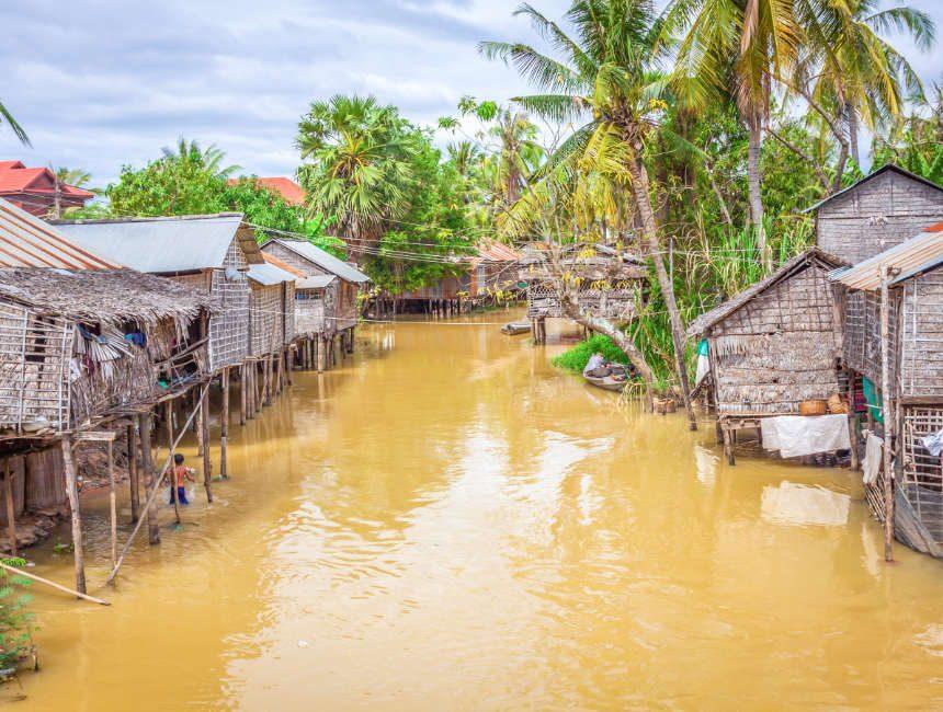 Stelzenhäuser Tonle Sap Kambodscha