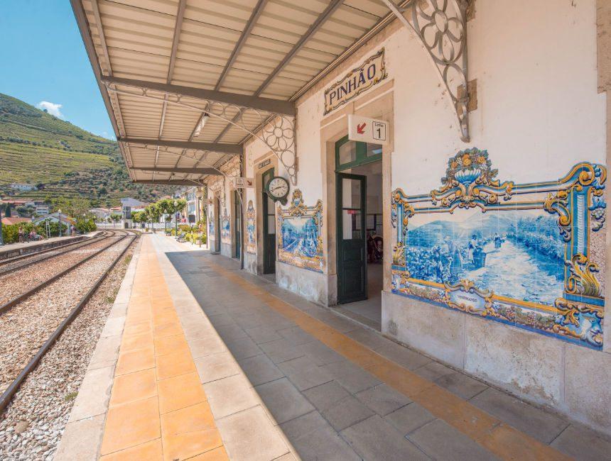 Pinhao Bahnhof Douro Tal Portugal