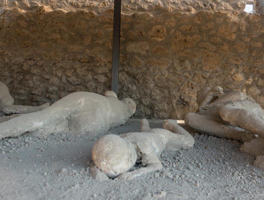 verkohlte Körper Pompeji