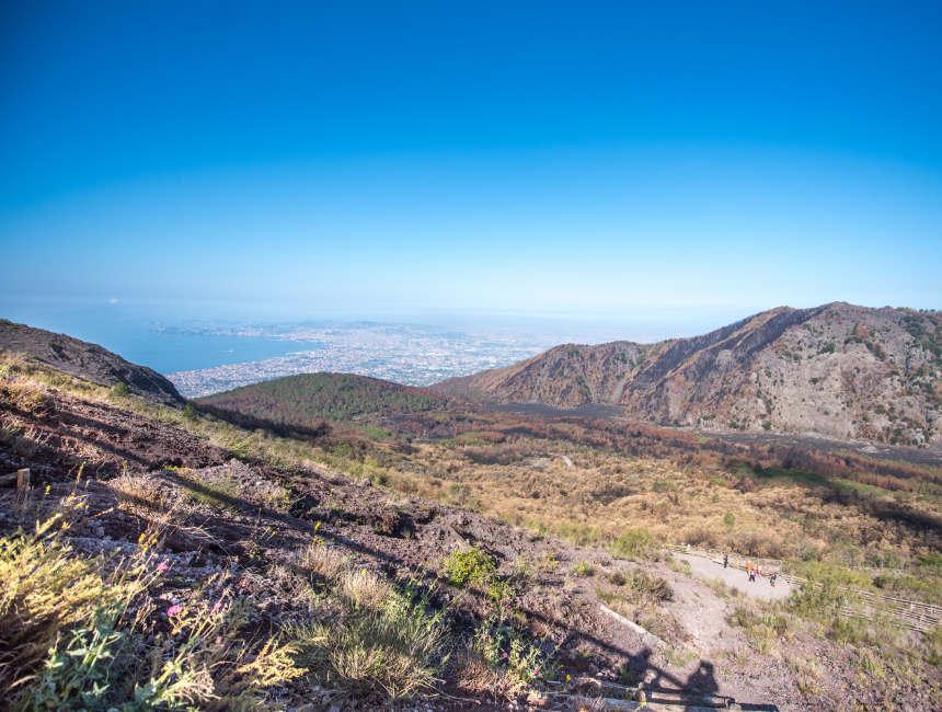 Besteigen Vesuv
