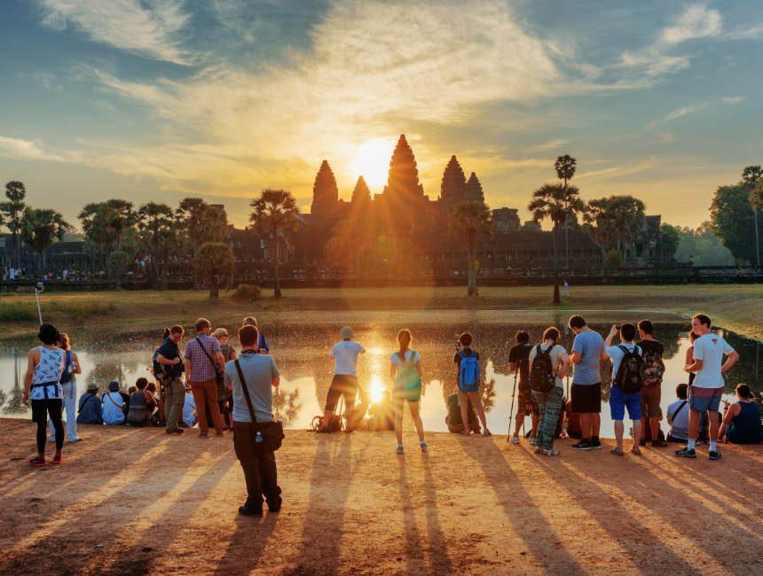 Angor Wat Sonnenuntergang