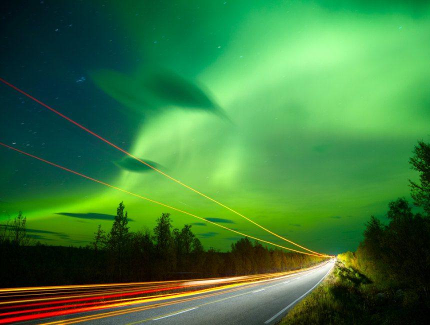 Nordlicht Autovermietung Norwegen