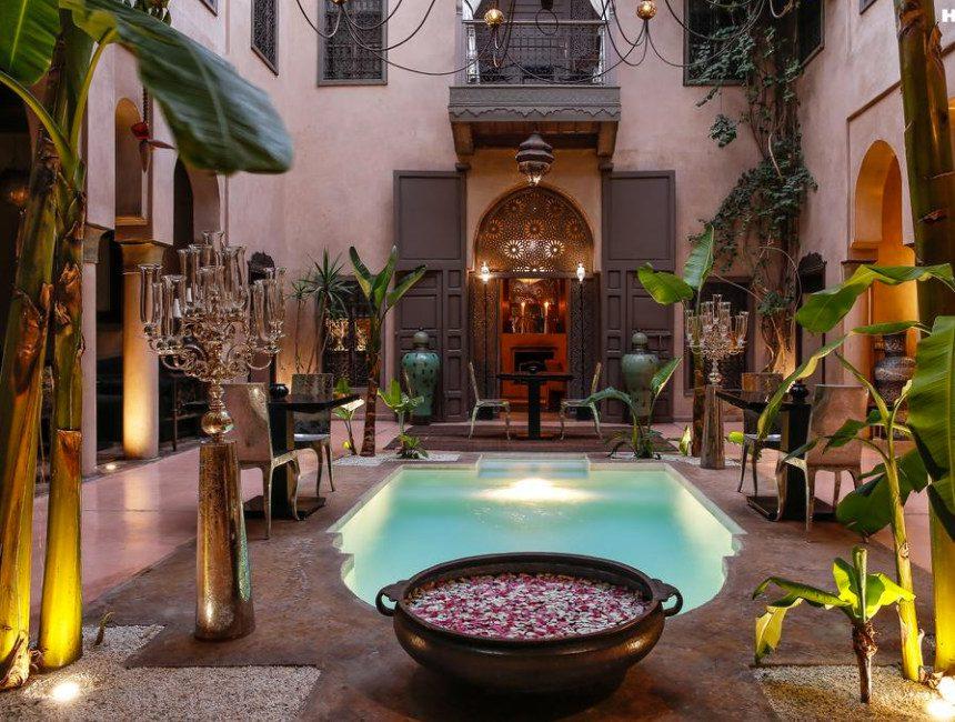 riad marrakesch mit pool noir divoire