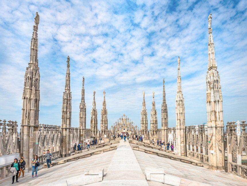 Mailand duomo dach besuchen