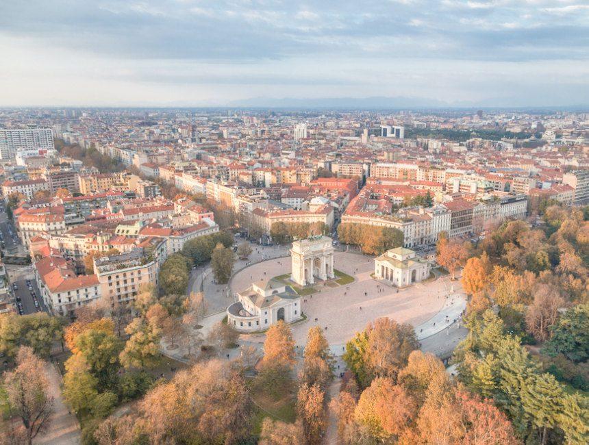 Torre Branca Aussicht Mailand