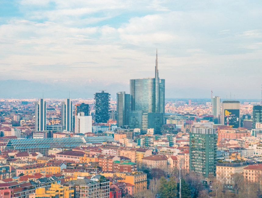 Torre Branca Aussicht Moderne Mailand
