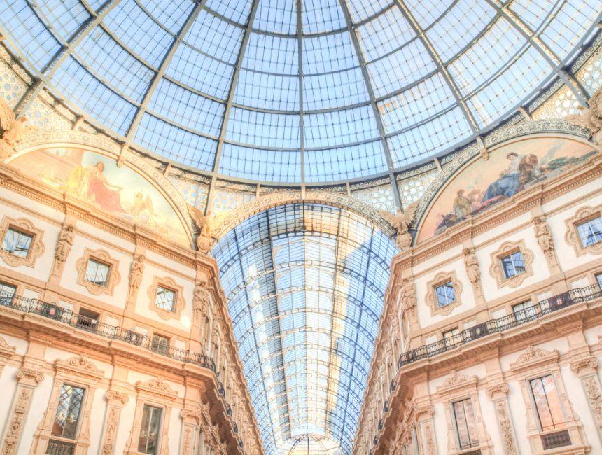Viereck der Mode Mailand galleria vittorio emanuel II