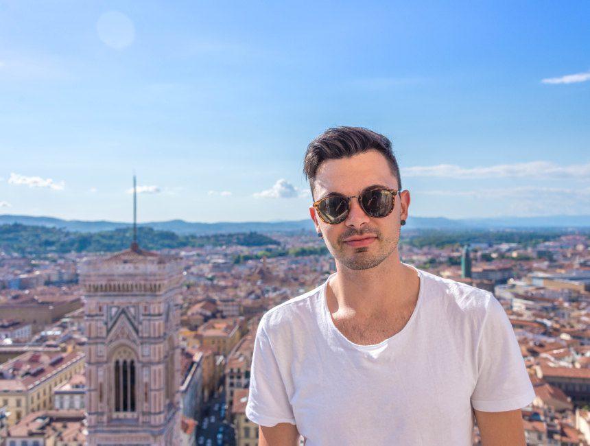 Sam in Florenz Firenze